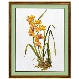 Eva Rosenstand Eva Rosenstand borduurpakket Gele Orchidee 14-156
