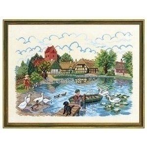 Eva Rosenstand Eva Rosenstand borduurpakket Village pond 2 12-729