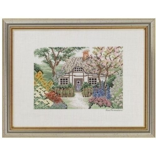 Eva Rosenstand Borduurpakket English cottagehouse 94-467
