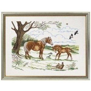 Eva Rosenstand Borduurpakket Paard met veulen 12-740