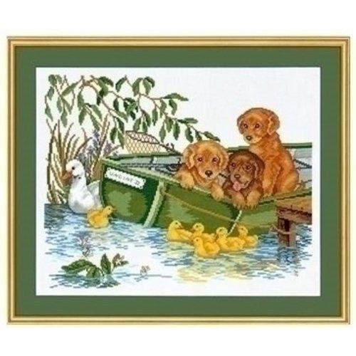 Eva Rosenstand Eva Rosenstand borduurpakket Puppy in boot 12-967