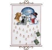 Adventskalender dieren en sneeuwman 15-360