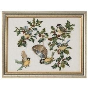 Eva Rosenstand Eva Rosenstand borduurpakket Birds & holly 12-451