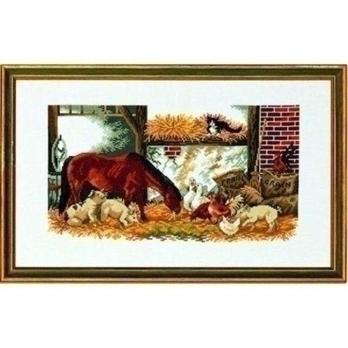 Eva Rosenstand Borduurpakket Paard, varkens, kippen 14 141