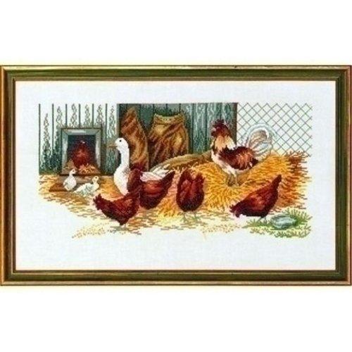 Eva Rosenstand Borduurpakket ganzen en kippen 14 108