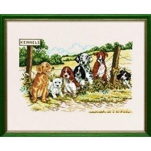 Eva Rosenstand Borduurpakket Honden kennel 14-224