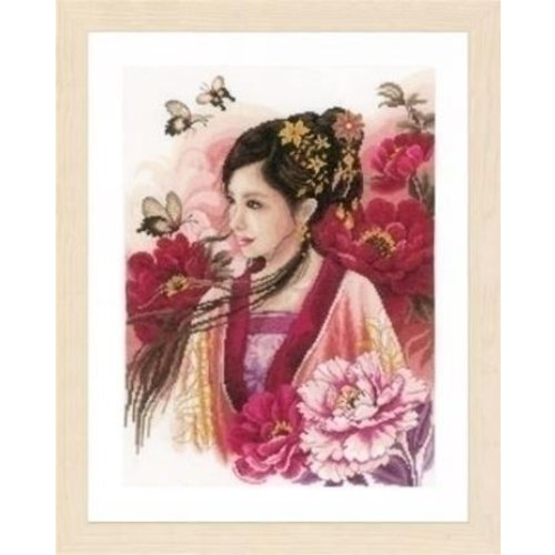 Lanarte Lanarte borduurpakket Asian lady in pink 0170199