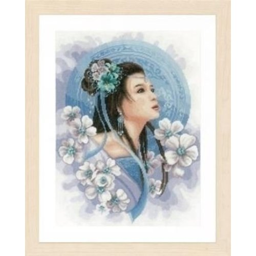 Lanarte Lanarte borduurpakket Asian lady in blue 0169168