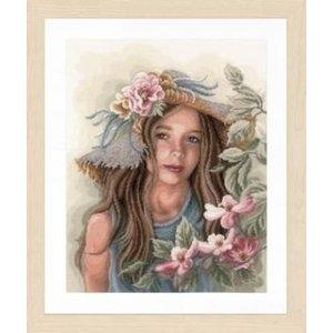 Lanarte Lanarte borduurpakket Meisje met hoed 0169325