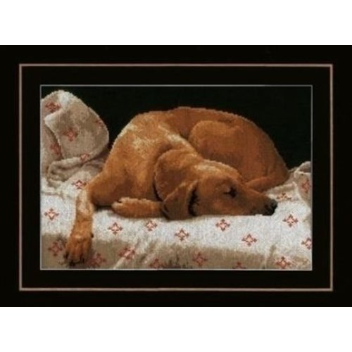 Lanarte Lanarte borduurpakket Slapende hond 0164050