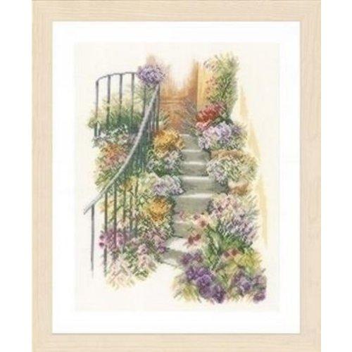 Lanarte Lanarte borduurpakket Trap met bloemen 0169680