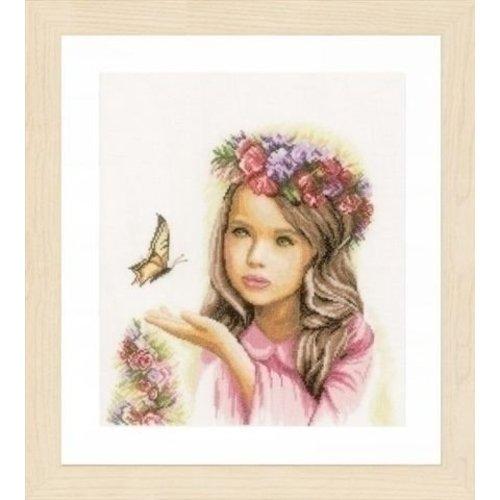 Lanarte Lanarte borduurpakket Engeltje met vlinder 0164072