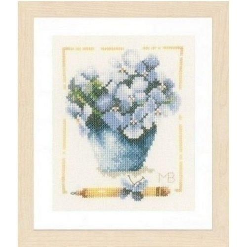Marjolein Bastin Lanarte borduurpakket Pot met viooltjes 0007977