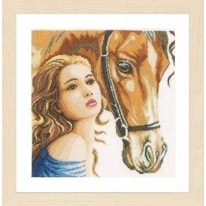 Lanarte Lanarte borduurpakket Vrouw met Paard 0158324