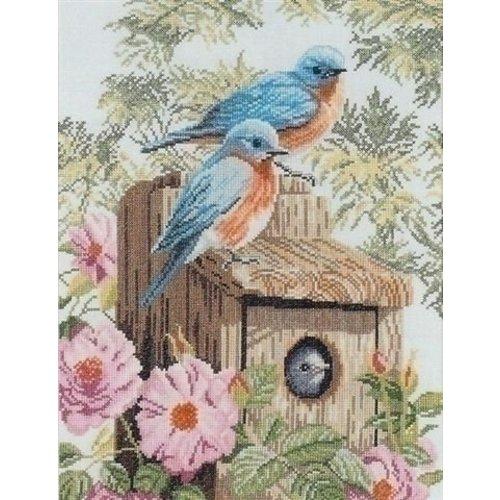 Lanarte Borduurpakket vogels op vogelhuisje 0008197