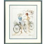 Lanarte borduurpakket Meisjes met fiets 0007949