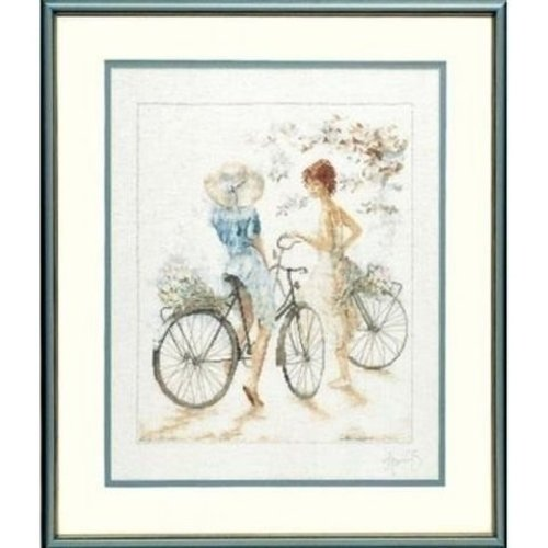 Lanarte Lanarte borduurpakket Meisjes met fiets 0007949