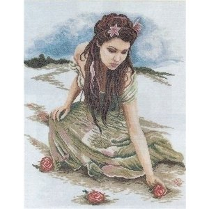 Lanarte Lanarte borduurpakket Meisje met rozen 0008186