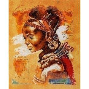 Lanarte Lanarte borduurpakket Afrikaanse vrouw 0008009