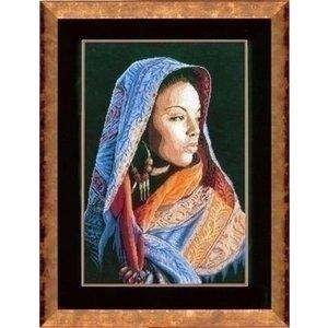 Lanarte Lanarte borduurpakket Afrikaanse dame 0149998