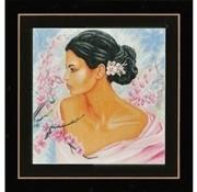 Lanarte borduurpakket Dame met bloesems 0155690