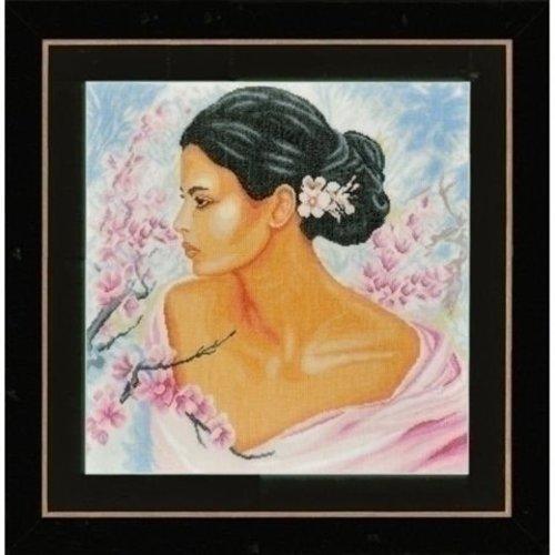 Lanarte Lanarte borduurpakket Dame met bloesems 0155690