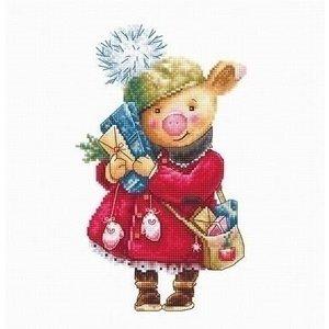 Luca S Luca S borduurpakket Christmas Pig b1153