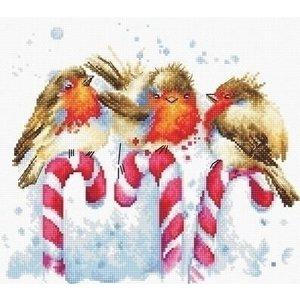 Luca S Luca S borduurpakket Christmas Birds b1154