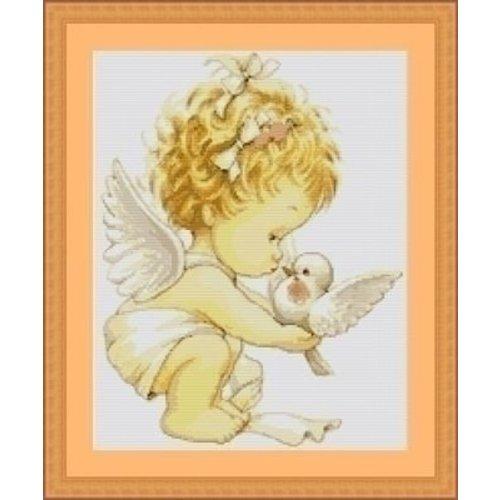 Luca S Luca S Borduurpakket Angel with Pigeons B369