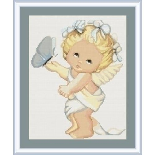 Luca S Petit Point Borduurpakket Angel and Butterfly G368