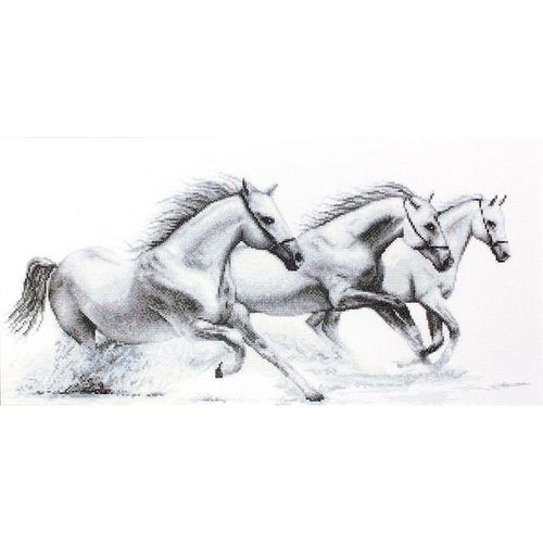Luca S Luca S borduurpakket Witte Paarden B495