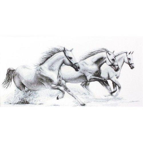 Luca S Luca S borduurpakket Witte Paarden G495