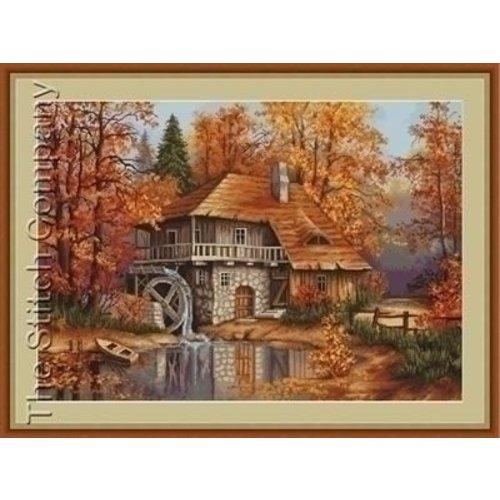 Luca S Luca S borduurpakket Autumn Landscape B481