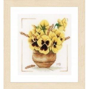 Marjolein Bastin borduurpakket Gele viooltjes 0164071