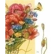 Marjolein Bastin borduurpakket Klaprozen PN0144524
