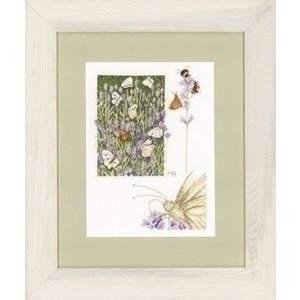 Marjolein Bastin Borduurpakket Lavendelveld met vlinder 0146979