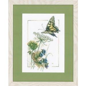 Marjolein Bastin Marjolein Bastin Vlinder met blauwe bessen 0021869