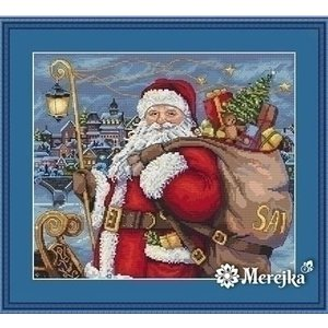 Merejka Merejka Borduurpakket Santa is Coming! mer-k102