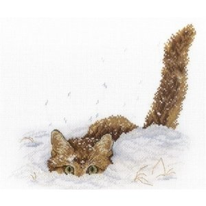 MPStudia MPStudia borduurpakket Cat in the Snow SNV-557