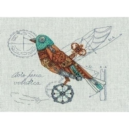 Panna Panna borduurpakket Clockwork Bird 1871-m