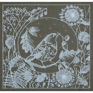 Panna Panna borduurpakket White Lace Bird 1865-pt