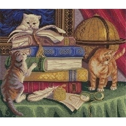 Panna Panna borduurpakket Kittens with Books 1053-j