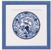 Pako borduurpakket Delftsblauw bord 238.591