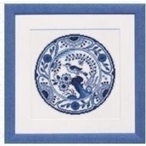 Pako Pako borduurpakket Delftsblauw bord 238.591