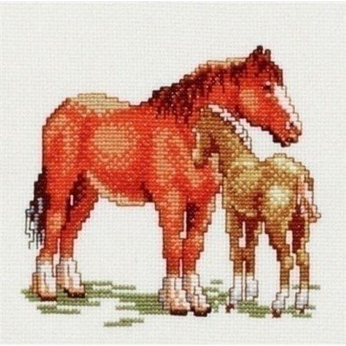 Pako Pako borduurpakket paard met veulen 214.452