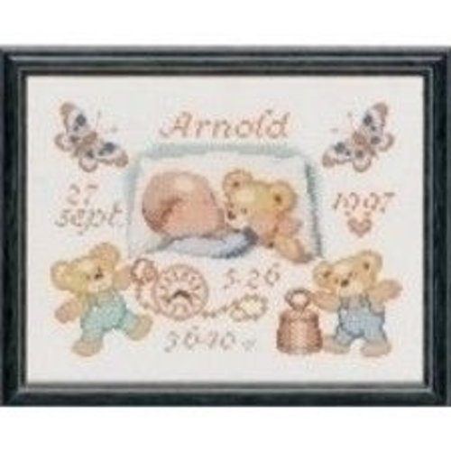 Pako Borduurpakket geboorte baby met beertjes 225.291