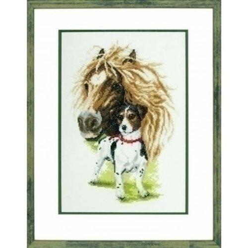 Pako Borduurpakket paard met Jack Russel 237 097