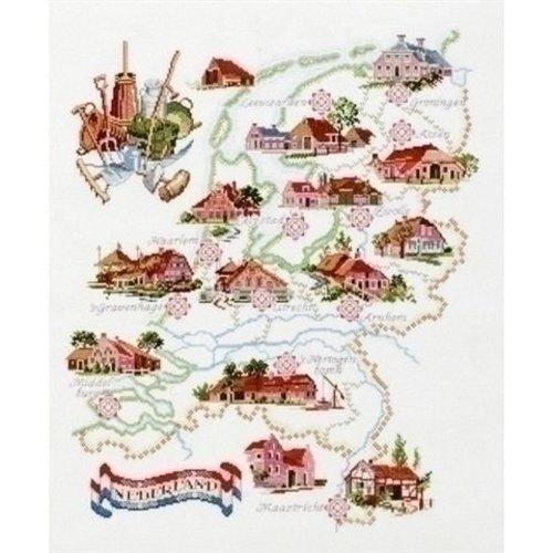 Pako Borduurpakket kaart van Nederland 219 257