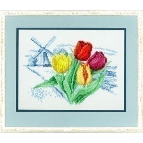 Pako Borduurpakket Hollandse molen en tulpen 237 096