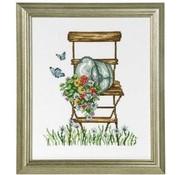 Permin Permin borduurpakket Chair with flowers 92-8104